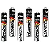 Six Energizer AAAA Alkaline Batteries for Streamlight Stylus Lights