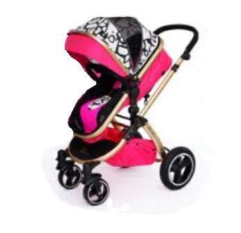 cochecito de bebé IBEIS de alta calidad 2 en 1 para recién nacidos, plegable, para bebés de 0 a 36 meses rosa rosa
