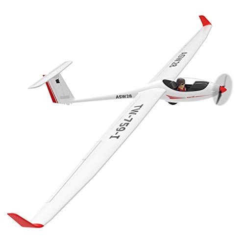 VOLANTEXRC RC Glider Airplane ASW28 Electric RC Sailplane 2.6m Wingspan & Plastic Unibody Fuselage Brushless PNP Version with Power Brushless Motor (759-1 PNP) ()