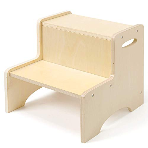 Wooden Toddler Step Stool for Kids, WOOD CITY