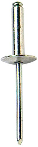 Bulk Hardware BH04094 Aluminium Alloy Pop Rivet with Large Flange, 4.0mm x 17 mm - 5/32 inch x 11/32 inch - Pack of 50 Bulk Hardware Limited