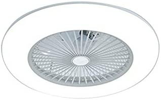 22 Inch Ceiling Fan with Light and Remote Control,Modern LED Semi Flush Mount Light Fandelier,Acrylic Blades,3 Colors 3 Speeds,36W,Enclosed Fan,Quite Motor,for Home Living Room White