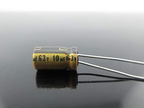 Gold Capacitor - FidgetFidget Japan 20PCS Nichicon Muse FG(Fine Gold 10Uf 63V 10mfd Audio Capacitor