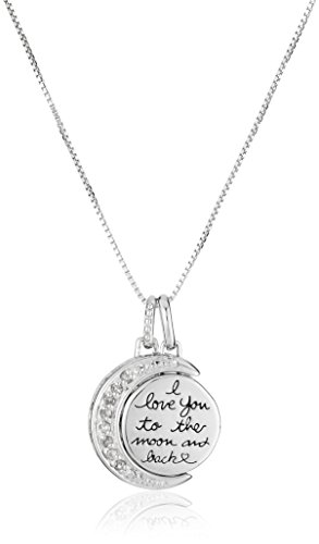 Sterling Silver Diamond Pendant Necklace