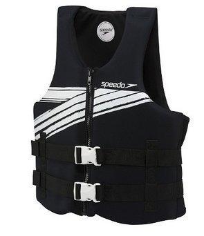 Speedo大人用ライフベストXL/XXLサイズのブラック&ホワイトover 90ポンド。(40kgs。)   B01LXW9EEW