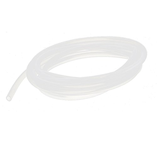 6 Mm High Gloss - Uxcell a15121600ux0976 6 mm x 8 mm Silicone Food Grade Tube Beer Water Air Hose Pipe, 3 m, Metal, 0.24