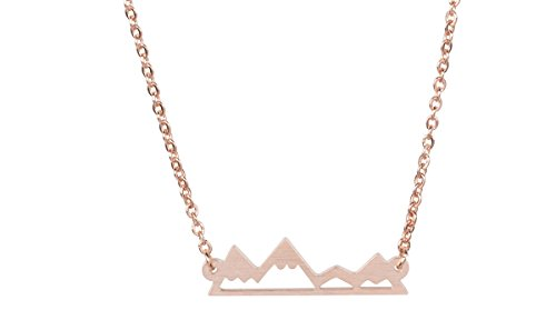 Rosa Vila Mountain Necklace for Outdoor Lovers, Hikers, Skiers, Snowboarders, Hiking Enthusiasts,...