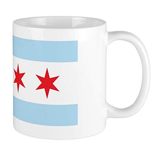 CafePress Chicago Flag White Background Mug Unique Coffee Mug, Coffee -