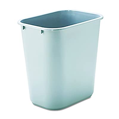 Rubbermaid Commercial Products Plastic Resin Deskside Wastebasket
