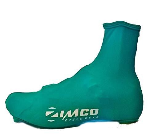 Zimco Lycra Cycling Bicycle Shoe Cover Booties with Rear Zipper (Medium) ()