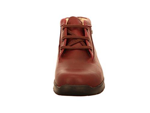Finn Comfort 02854515407 - Botas de Piel Lisa para mujer Rojo