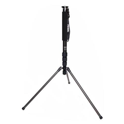 Feisol CM-1473 Rapid Four-Section Carbon Fiber Monopod with 3 Support Legs, 80'' Maximum Height, 25 lbs Capacity