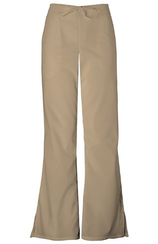 Cherokee Women's Workwear Scrubs Flare-Leg Drawstring Pant Dark Khaki Petite X-Large (Spi Full Set)
