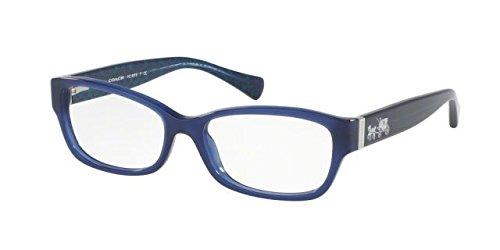 Coach Women's HC6078 Eyeglasses Milky Navy/Milky Navy Sig C 54mm (54 Eyeglasses)