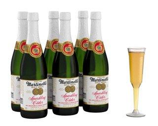(Martinelli's 25.4 oz Sparkling Cider (6)