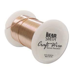BeadSmith WNT-2434 27.4m Tarnish Resistant Bright Copper Wire, 24 gallon/30 yd Bead Copper Wire