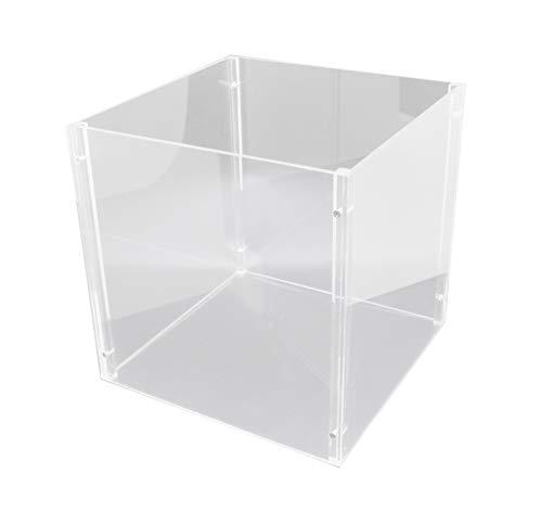 Cube 12 Display (FixtureDisplays 4-sided Separable Clear Plexiglass Acrylic Transparent 12