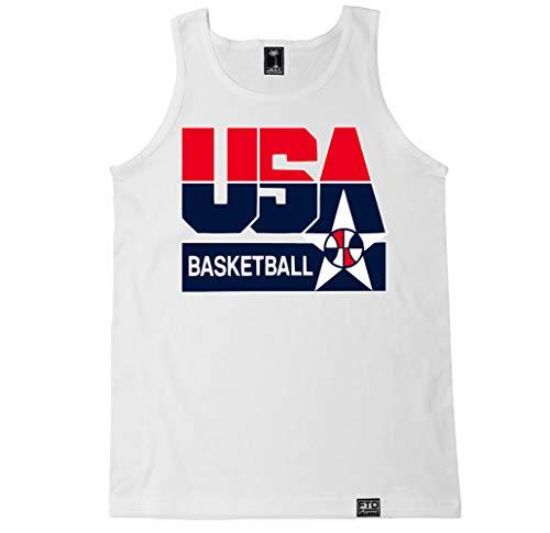 FTD Apparel Men's USA Basketball Tank Top - Large White/USA Basketball - Apparel Swimming Olympic
