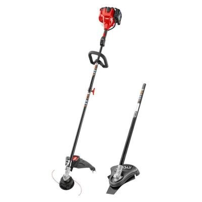 Attachment Capable Straight Shaft Gas String Trimmer with Brush Cutter Attachment (Toro 2 Cycle)