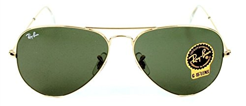 Ray-Ban RB3025 Large Metal Aviator Sunglasses. Color Gold L0205