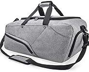 Sport Gym Bag Large Travel Duffel Bag with Shoe Compartment Wet Pocket Bag Waterproof Holdall Weekender Overni