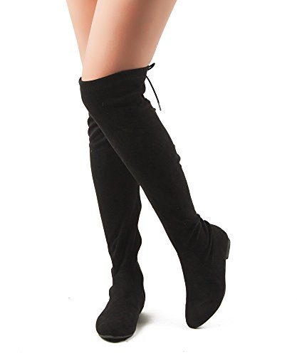 Image of RF ROOM OF FASHION Women Fashion Comfy Vegan Suede Side Zipper Over The Knee Boots