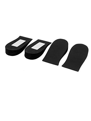 Letter Print 2cm Height Insoles Heel Lift Shoes Pads 2 Pairs (Print Insole)