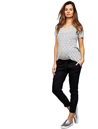 (A Pea in the Pod Under Belly Linen Jogger Maternity Pants Black)