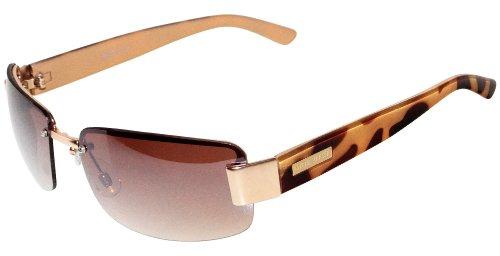 Nine West Womens Half Rim Rectangle - Rectangle Rimless Sunglasses