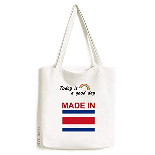 Made In Costa Rica Country Love Tote Canvas Bag Craft Washable Fashion Shopping Handbag (Best Shopping In Costa Rica)