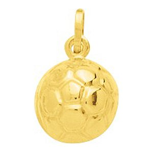 So Chic Bijoux © Pendentif Ballon Football Sport Or Jaune 750/000 (18 carats)