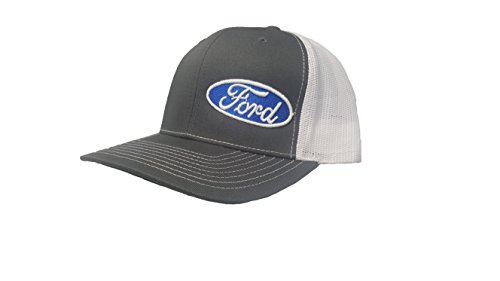 Richardson 3D Puff Ford Logo Emblem Hat Cap Adult Adjustable Snapback Unisex Dark Grey ()
