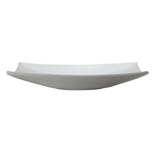 Non Closing Umbrella Drain - DECOLAV 1443-CWH Iris Classically Redefined Rectangular Vitreous China Above-Counter Lavatory Sink, White