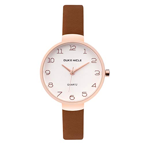 Girls Watch Ladies Fashion Casual Waterproof Watch Suitable For All Kinds Of Girls Fashion Leather Waterproof Watch (brown) ()