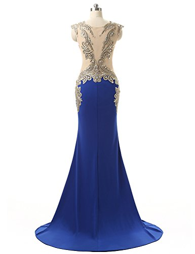 Formal Evening House HYD003 Blue Belle Royal Party Mermaid Women's Long Dresses Gown AwptRqYx