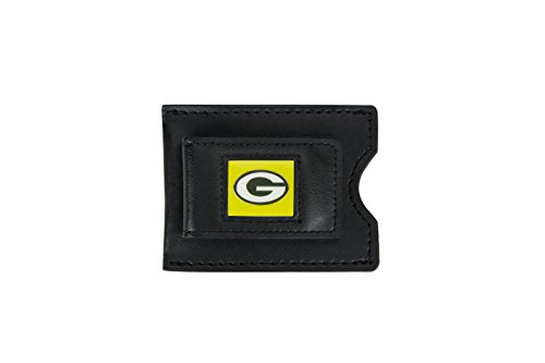 Mlb Nfl Money Clip (NFL Green Bay Packers Men's Leather Money Clip and Card Case, 3.5 x 2.75