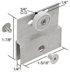 Shower Door Roller Assembly Package (3/4
