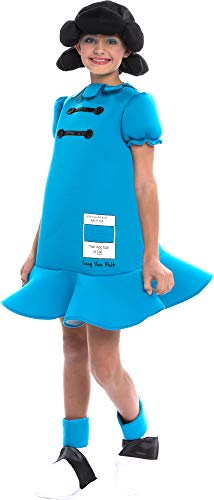 Peanuts Lucy Van Pelt Deluxe Girls Costume Medium 8-10