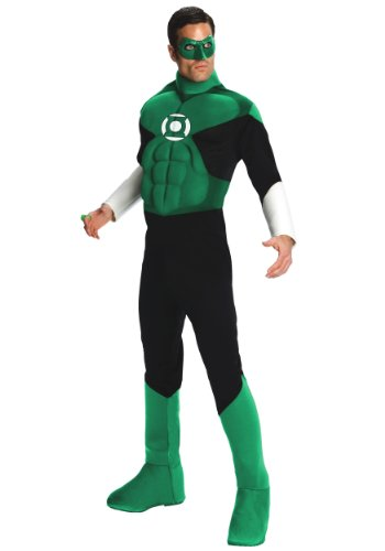 Green Lantern Deluxe Costume, Green,