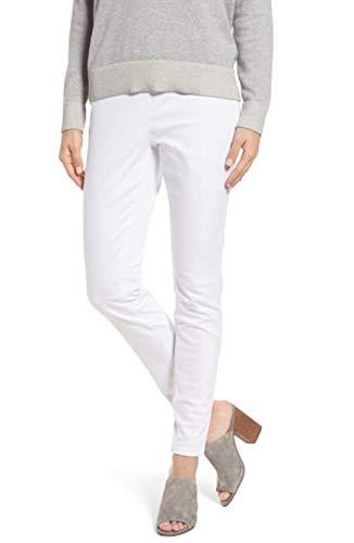 Eileen Fisher White Organic Cotton Garment Dyed Stretch-Denim Leggings Size XL MSRP $178