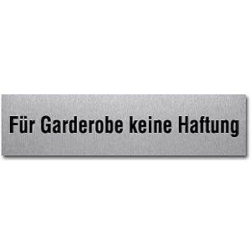 Garderobe schild  Schild Für Garderobe keine Haftung, Edelstahl, selbstklebend, 4x16 ...