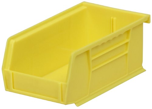 Akro-Mils 30220 Plastic Storage Stacking Hanging Akro Bin, 7-Inch by 4-Inch by 3-Inch, Yellow, Case of 24