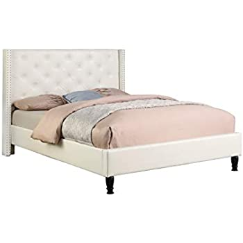 Amazon Com Baxton Studio Carlotta Modern Bed With