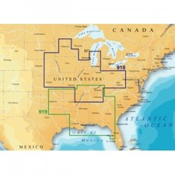 Magellan MapSend BlueNav XL3 Charts for Meridian Northern U.S. Rivers Freshwater Map microSD Card