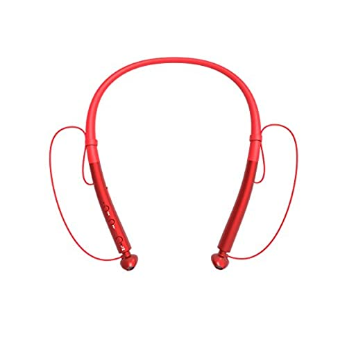 low-cost Bluetooth Headphones Neckband Sport & Exercise Earbuds Wireless Headset Stereo(15 Hours Play Time,Comfy & Fast Pairing) for iPhone and Android Phones Noise Cancelling Headsets(Red)