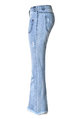 Le Donne Alte Wasitiraq Kgm Bell Dazosue Di Forma Jean Blu Strappati Sotto Xs Jeans Zgdpxwq
