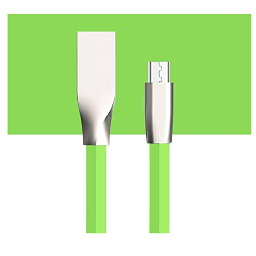 Iuhan 1M Micro USB Charger Sync Data Cable Cord for Cell Phone (Green)
