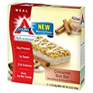 Atkins Advantage Bar,cinnamon Bn, 5/1.7 Oz