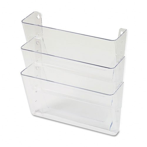 Universal : Three-Pocket Wall File Starter Set, Letter, Clear -:- Sold as 2 Packs of - 3 - / - Total of 6 Each