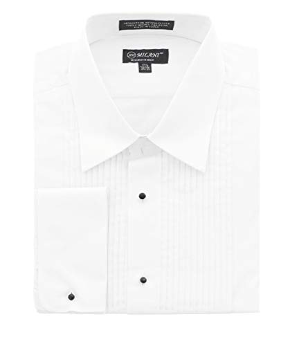 Milani Men's Tuxedo Shirt with French Cuffs 15.5